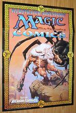 "Magic the Gathering comics promotional poster - 26"" x 19"" - acclaim 1995 WotC"