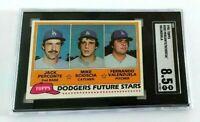 1981 Topps Fernando Valenzuela RC SGC 8.5 NM MT+ Scioscia Dodgers Rookie #302
