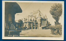 Union railroad depot station Quebec City Ontario Canada Real Photo Postcard RPPC