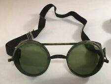 ANTIQUE GREEN INDUSTRIAL STEAMPUNK SPECTACLES EYEGLASSES GOGGLES GLASSES IN CASE
