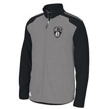 NEW $70 adidas ORIGINALS NBA BROOKLYN NETS Tip-Off Full-Zip Jacket Black Gray