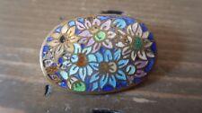 Vintage Cloisonne Flower Brooch 3.7 x 2.5 cm