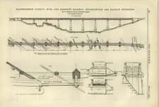 1884 The Salterhebble Viaduct Hull Barnsley Railway Huddersfield Halifax Extensi