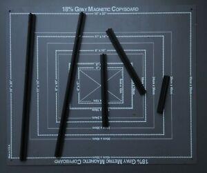 18% Gray Magnetic Copy Board Reproduktions- und Vergrößerungsrahmen bis 50x40cm