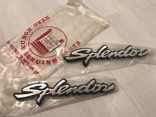 NOS Original New 1993 Honda SPLENDOR Side Emblem Pair, Left & Right, OEM