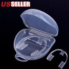 Silicone Dental Mouth Guard Bruxism Sleep Aid Night Teeth Tooth Grinding+Case