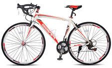 Merax Finiss Aluminum 21 Speed 700C Road Bike 58cm White/Red Shimano