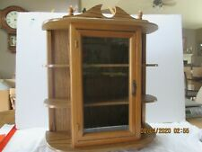 Vintage Table Top or Hanging Small Curio Cabinet Wood Glass