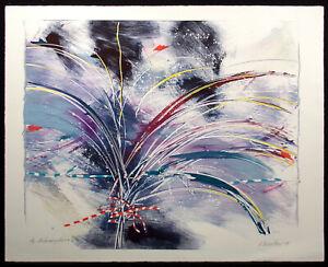 "Antonin Dimitrov ""Metamorphosis #4"" Original Monoprint 1989 Signed Fine Art, OBO"