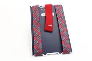 Club Room Men's Suspenders Red One Size Tartan Plaid Print Accessory $39 306