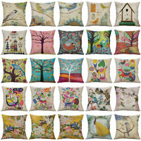 "18""  Art Pattern Cotton Linen Cushion Cover Pillow case Sofa Home Decor"
