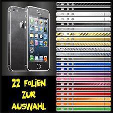 IPHONE 5 FOLIE GRAU GEBÜRSTET ( BUMPER COVER HÜLLE CASE TASCHE LADEKABEL
