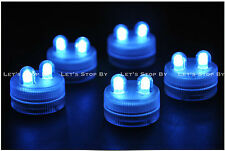 30 BLUE SUPER Bright Dual LED Tea Light Submersible Floralyte Party Wedding