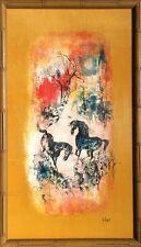 Hoi LEBADANG-Lithographie sur Tissu-main Silken signé par l'artiste