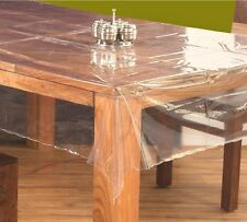 "Table Cloth - 54""x78"" (Oval) Clear Transparent Tablecloth & Protector"