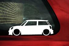 2x Baja Bmw Mini R56 Cooper S, trabaja, contorno silueta pegatinas, calcomanías