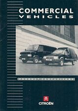 Citroen C15 Champ & C25 Relay Competitor Comparisons 1992-93 Salesmans Brochure