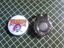 GOLF / Pittsburgh Pirates Logo Golf Ball Marker/with Magnet Hat Clip New!!