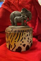 Elephant Trinket Box w Lid - Resin - Imported from the UK - Puckator