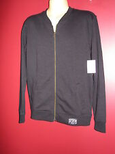Lucky Seven Clothing Men's Black Zip Up Sweatshirt - Size Small - NWT