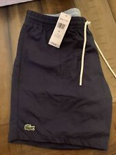 New ListingLacoste Swim Trunks Adult Medium Navy /light Blue New With Tags