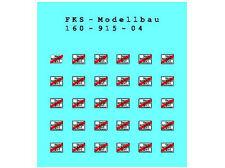 FKS 160-915-04 - Abbaglianti rapidamente-ben cartelli-Traccia N-NUOVO
