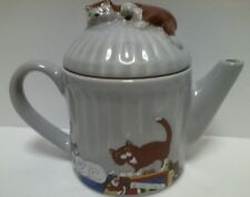 Wade Whimsical Kitty Cat Teapot Feline Collection Judith Wootton Made in England