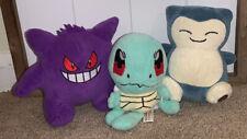 Pokemon Center - Nintendo - Gengar/Snorlax/Squirtle - Stuffed Plush - 3 Pack
