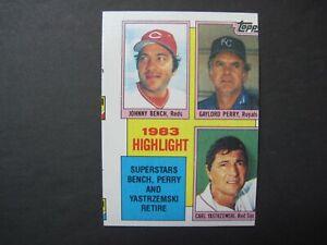 1984 TOPPS HIGHLIGHT ERROR CARD #6 Miscut Johnny Bench Carl Yastrzemski Perry