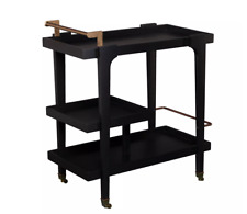 New Zhori Midcentury Modern Bar Cart - Holly & Martin HZ2030 Black