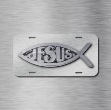 Jesus Vehicle Front License Plate Auto Car NEW Tag Fish Christian NEW