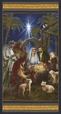 Timeless Treasures Fabric - Nativity Panel - 100% Cotton