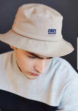 NEW OBEY WORLDWIDE NATURAL KHAKI BUCKET HAT