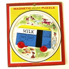 Ancien jeu de société - PUZZLE MAGNETIQUE - Playskool - MILK FARM DAIRY