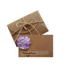 'Especially For You' Dried Flower Mini Message Card Envelope Lilac 10.5cm x 7cm
