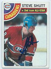 HOF Steve Shutt signed 1978-79 Montreal Canadiens hockey card autograph #170
