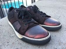 LANVIN Metallic Burgundy CALFSKIN Leather SNEAKERS Trainers SZ-10/11-US