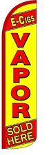 E-Cigs Vapor (Yellow) Windless Standard Size Polyester Swooper Flag Sign Banner