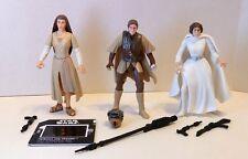 Star Wars POTF2 ENDOR EWOK LEIA, BOUSHH LEIA, WHITE GOWN LEIA Complete Figures