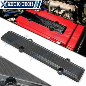 Engine Plug Cover B-Series Carbon Fiber Style Decoration For Honda Civic B16 B18