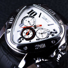 Men Watch Triangle Mechanical Dial Automatic S Luxury Leather Case Digital Led
