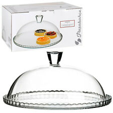 Glass Cake Display Stand Cover Stand Muffin Cupcake Table Dome Lid Cheese Plate
