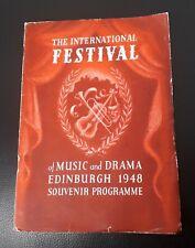 Edinburgh Festival Souvenir Programme 1948 Furtwangler Kathleen Ferrier Kentner