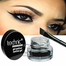 Technic Electric Beauty Gel Eyeliner & Brush Long Lasting Black Makeup Liner Eye