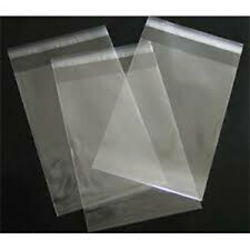 "10 Clear Cellophane Cello Greeting Cards Bags 12.5"" x 14.5"" Bottom Gusset"