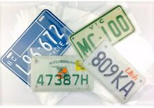 100 MOTORCYCLE License Plate Sleeves 5x8 2 Mil Poly Bags FITS MOST MC PLATES
