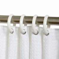 Zenna Home  White  Plastic  White  Shower Curtain Rings  12 pk