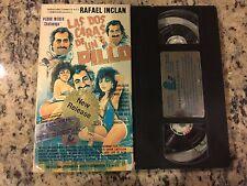 LAS DOS CARAS DE UN PILLO RARE VHS 1992 SPANISH MEXI COMEDY RAFAEL INCLAN OOP!