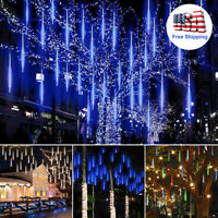 30cm/ 50cm LED Lights Meteor Shower Rain 8Tube Outdoor Icicle Snow Falling Light
