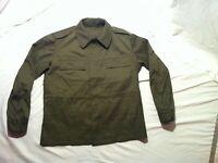 Vintage Czech Republic M85 Field Coat Military Green Back Pockets Jacket XXLARGE